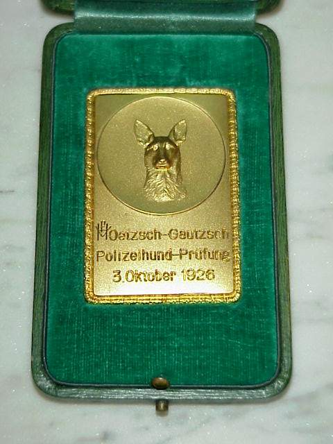 Polizeihund table medal.JPG